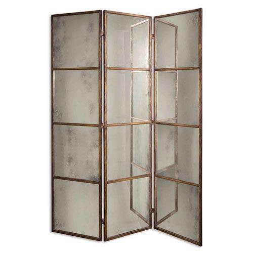 Avidan Three-Panel Screen Mirror