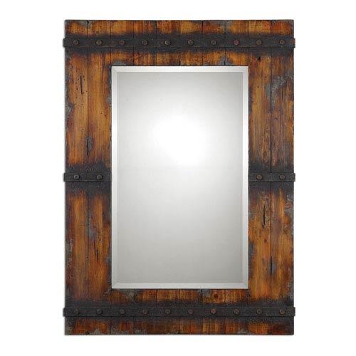 Stockley Rustic Rectangular Mirror