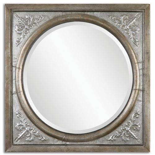 Uttermost Ireneus Antiqued Burnished Silver Square Mirror