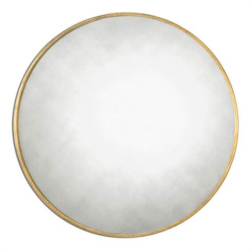 Junius Round Gold Round Mirror