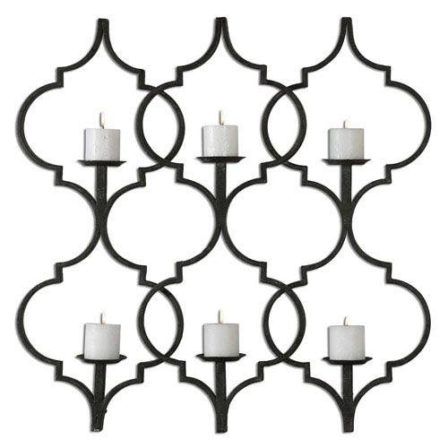 Uttermost Zakaria Aged Black 35.25-Inch Wall Sconce