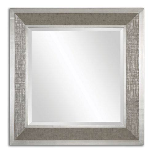 Uttermost Naevius Silver Leaf Square Mirror