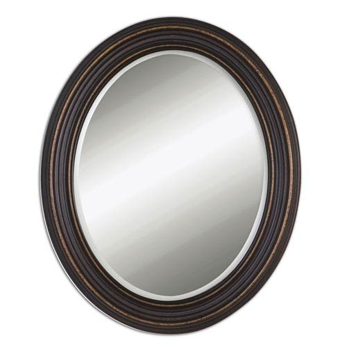 Uttermost Ovesca Dark Oil Rubbed Bronze Oval Mirror 14610 Bellacor