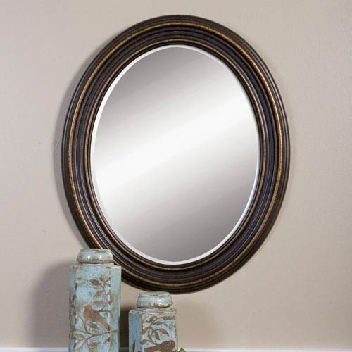 Ovesca Dark Oil Rubbed Bronze Oval Mirror