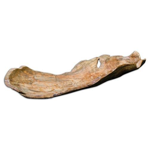 Uttermost Teak Natural Wood Leaf Bowl