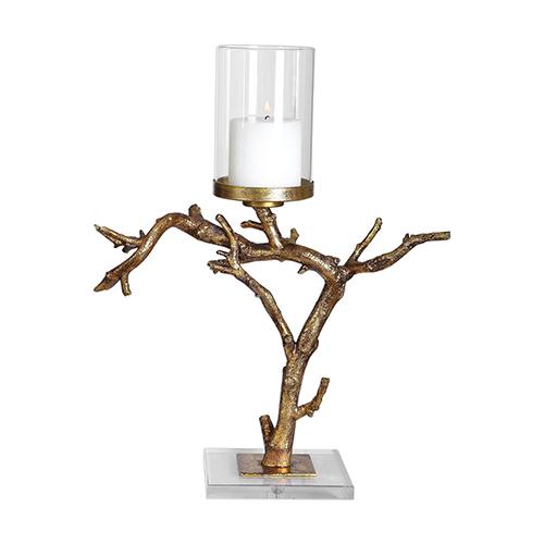 Saud Gold Branch Candleholder