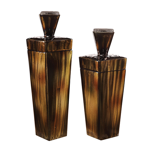 Lisa Brown Steel Containers, Set of 2