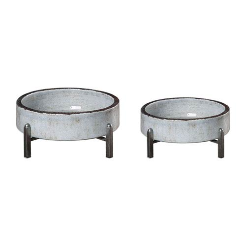 Uttermost Essie Pale Gray Bowls, Set of Two