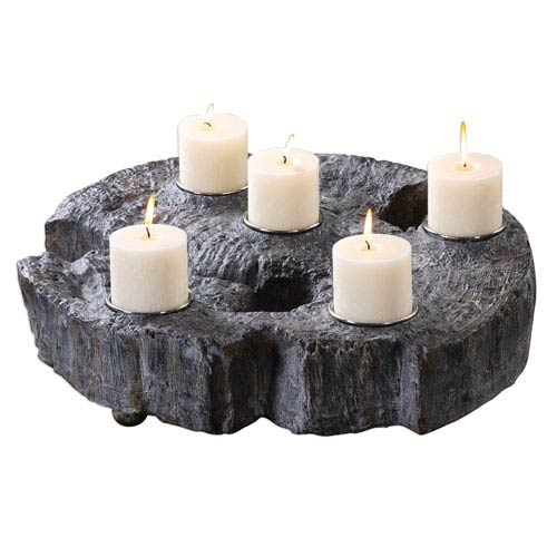 Elwin Tree Trunk Candleholder