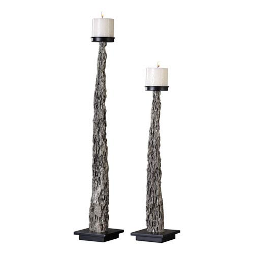 Tegal Candleholders, Set of Two