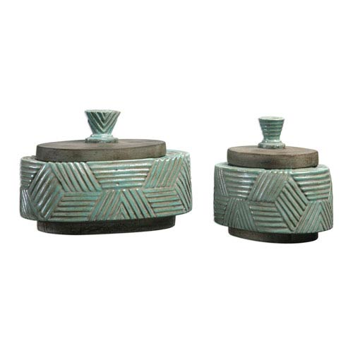 Ruth Ceramic Boxes, Set of Two
