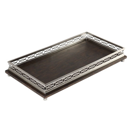 Uttermost Gualtiero Nickel and Wood Tray