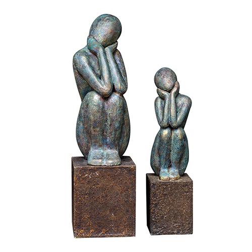 Jayin Figurine Sculpture, Set of 2