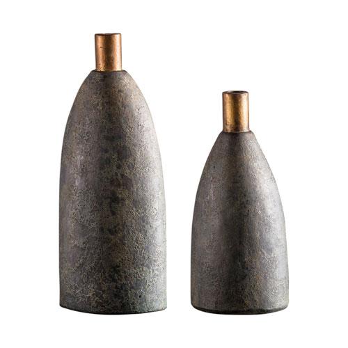 Kasen Charcoal Vase, Set of Two