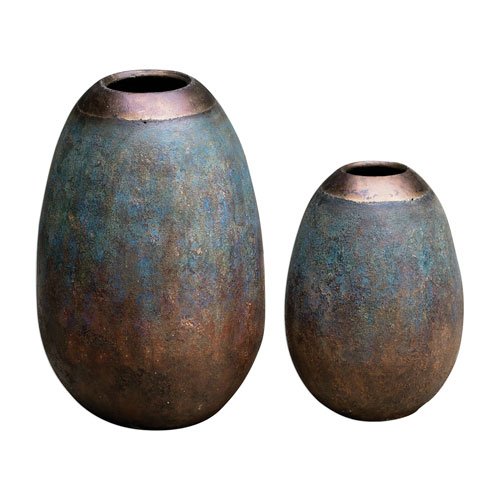 Pavak Etruscan Sky Vases, Set of Two