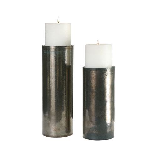 Amala Iridescent Candleholders, Set of Two