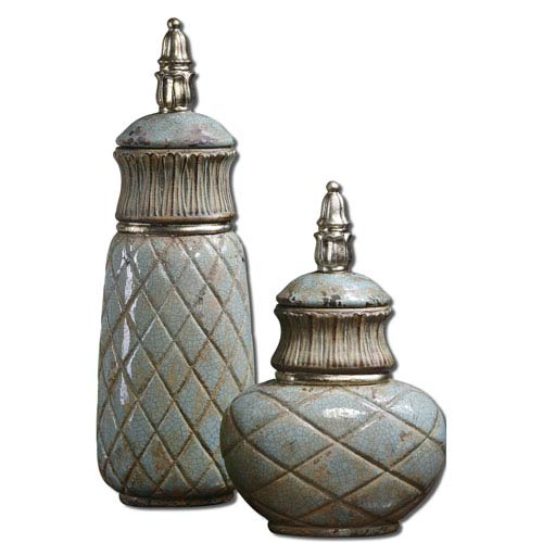 Green Deniz Containers, Set of Two