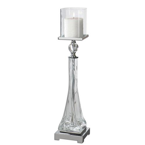 Grancona Polished Nickel Candleholder