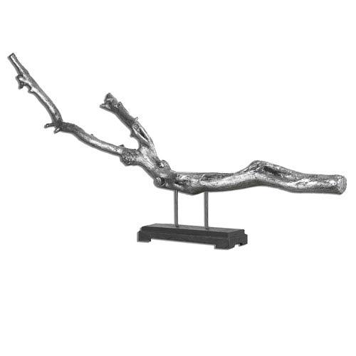 Becan Metallic Silver Driftwood Sculpture