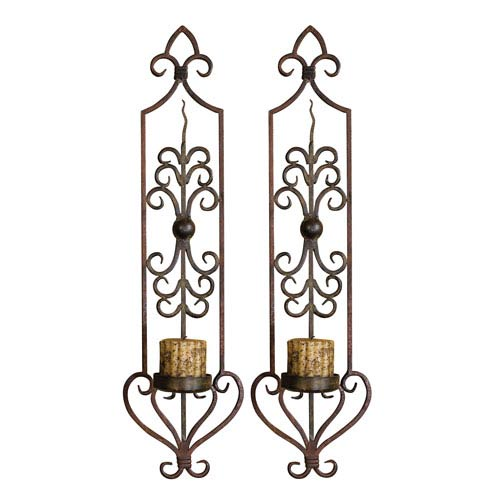 Set of Two Privas Wall-Mount Candleholders