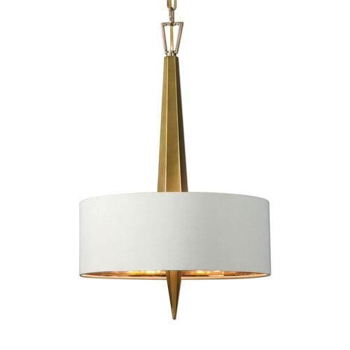 Obeliska Gold Three-Light Chandelier