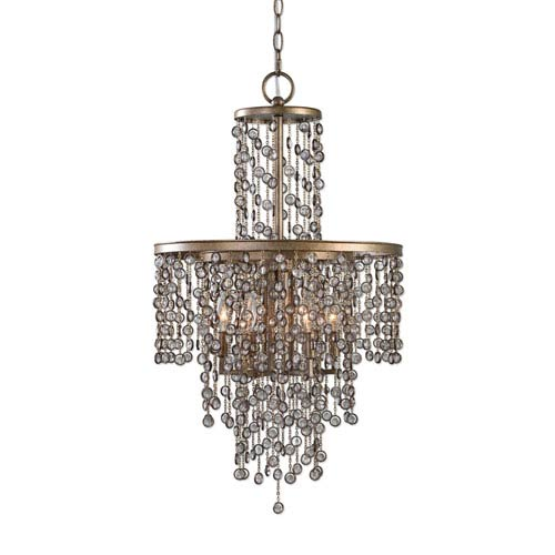 Valka Iron 6 Light Crystal Chandelier
