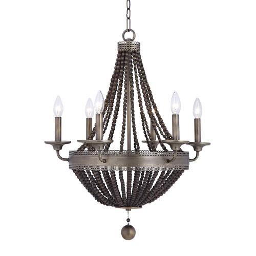 Beaded chandelier light fixture bellacor uttermost thursby brass six light beaded chandelier mozeypictures Image collections