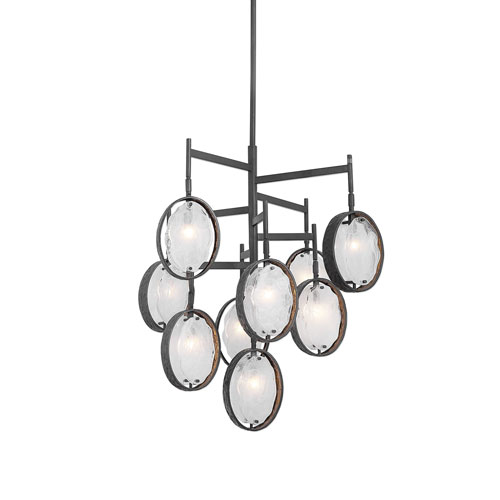 Maxin Dark Bronze Nine-Light Chandelier