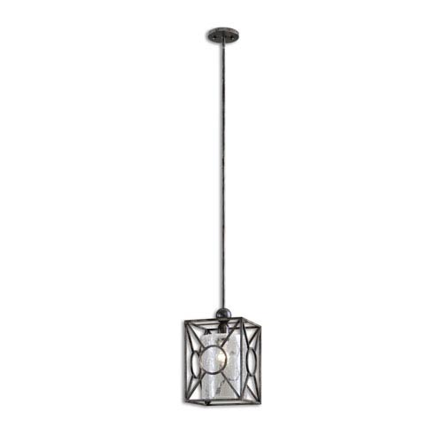Arbela Rust Black and Aged Gray Light Mini Pendant