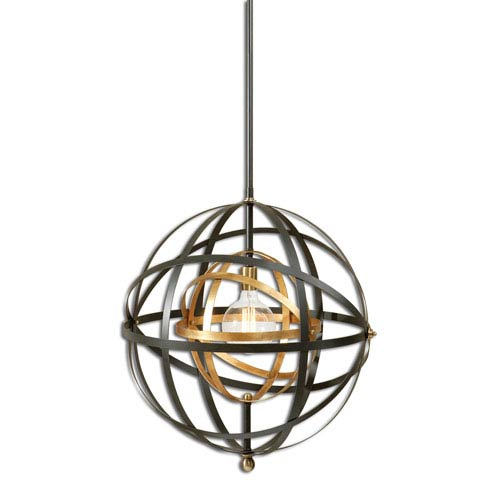 Rondure Dark Oil Rubbed Bronze One-Light Pendant