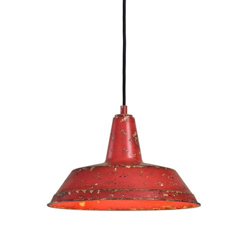 Pomodoro Poppy 1 Light Distressed Pendant