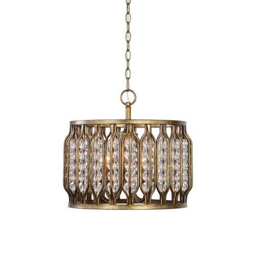 Jensen Four-Light Swedish Iron Pendant