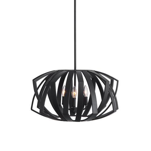 Uttermost Thales Black Geometric Three-Light Pendant