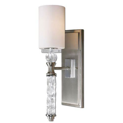 Brushed Nickel Wall Sconces Wall Sconce Lighting Bellacor - Polished nickel bathroom wall sconces
