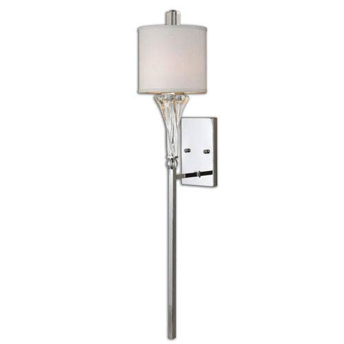 Uttermost Grancona Polished Chrome One Light Wall Sconce
