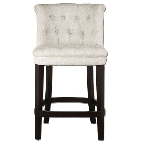Kavanagh White Tufted Counter Stool