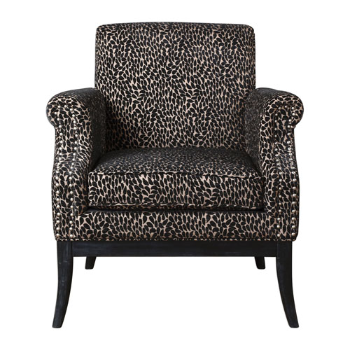 Uttermost Kaius Tan And Black Accent Chair