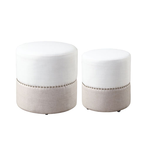 Tilda Two-Toned Nesting Ottomans, Set of Two