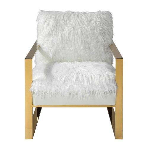 Uttermost Delphine White Accent Chair