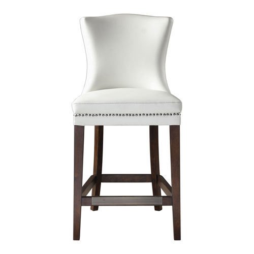 Uttermost Dariela White Counter Stool 23443 Bellacor