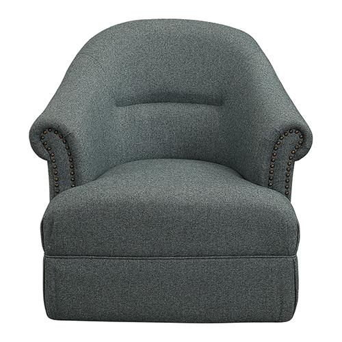 Tuloma Blue Green Swivel Chair