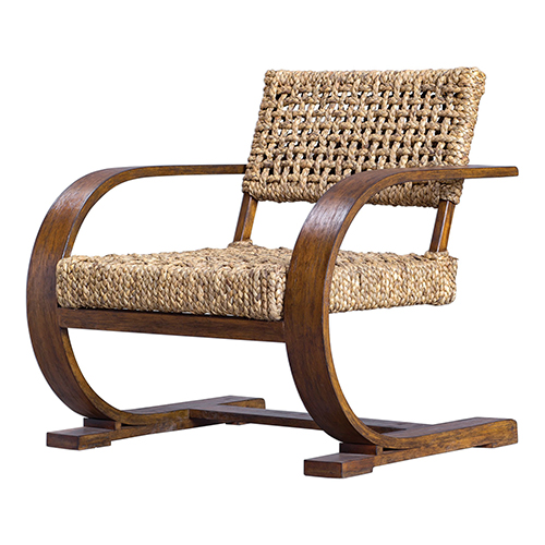 Rehema Natural Woven and Pecan Accent Chair