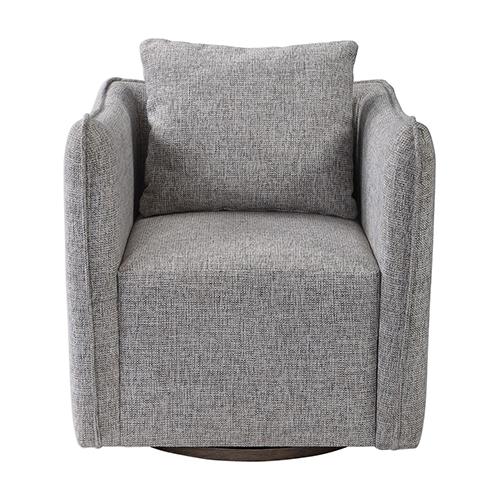 Uttermost Corben Gray Swivel Chair