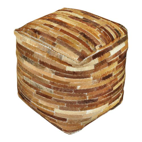 Tiago Medium Brown Pouf