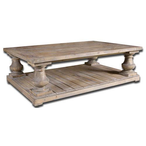 Uttermost Stratford Fir Wood Cocktail Table