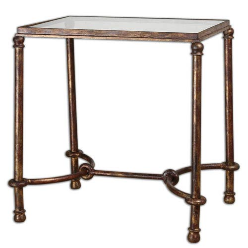 Warring Rustic Bronze 26 Inch End Table