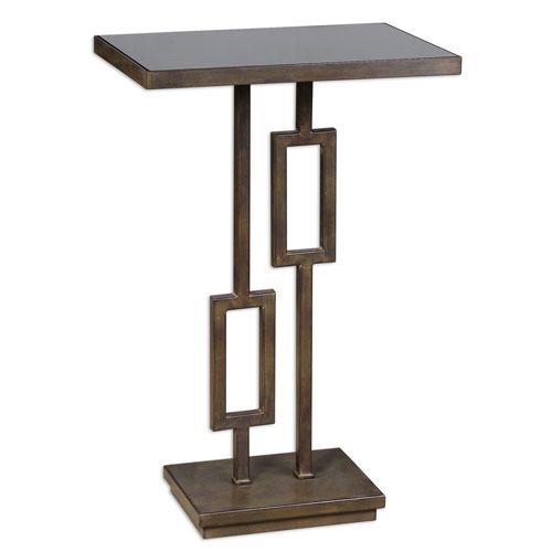 Rubati Tarnished Silver and Dark Bronze Accent Table
