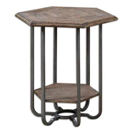Uttermost Mayson Light Tan Chippy Mayson Wooden Accent Table