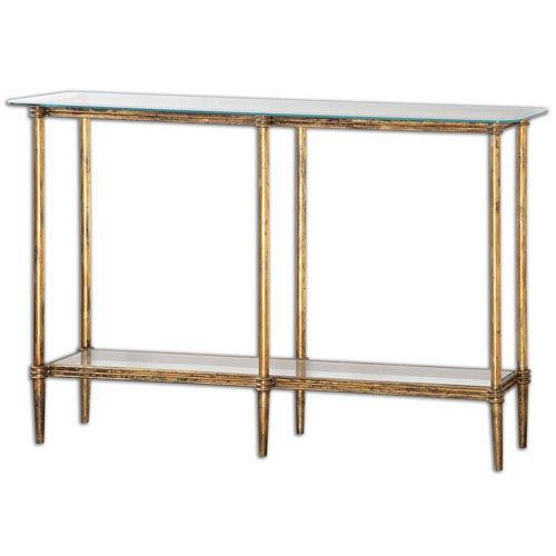 Elenio Bright Gold Console Table