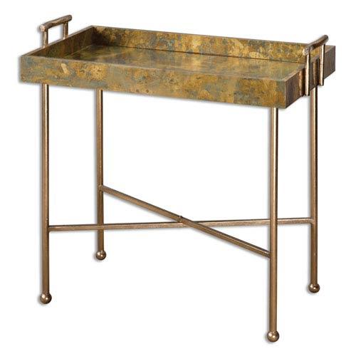 Couper Oxidized Copper Tray Table